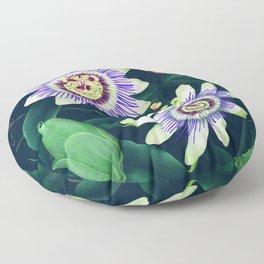 Passion Flower Vine Floor Pillow