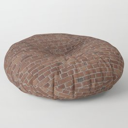 NYC Big Apple Manhattan City Brown Stone Brick Wall Floor Pillow