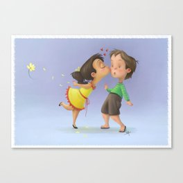 Kiss the boy Canvas Print