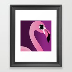 Cute Flamingo Portrait Framed Art Print