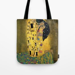 Curly version of The Kiss by Klimt Tote Bag