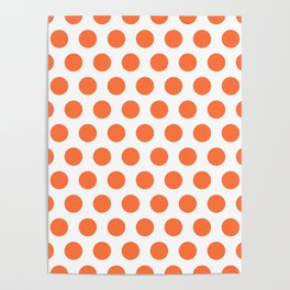 Orange and White Polka Dots 771 Poster