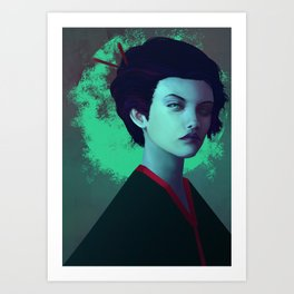 Moon Girl Art Print