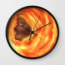 Fire Goddess Wall Clock
