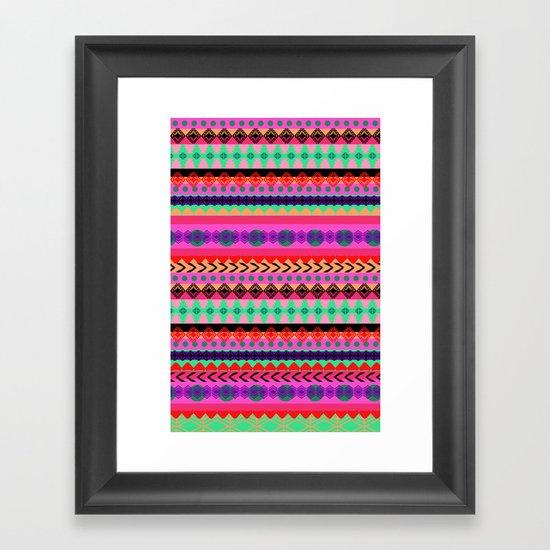 Tribal Stripe Framed Art Print
