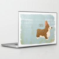 corgi Laptop & iPad Skins featuring Corgi by 52 Dogs