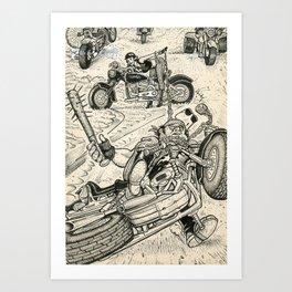 Bikers Art Print