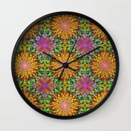 Marigolds and Asters Wall Clock