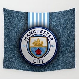 Manchester City England Football Club Wall Tapestry