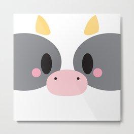 Cow Block Metal Print
