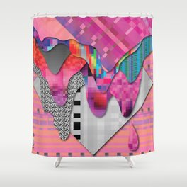 drippy pink Shower Curtain