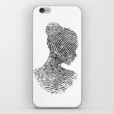 Fingerprint Silhouette Portrait No.1 iPhone Skin