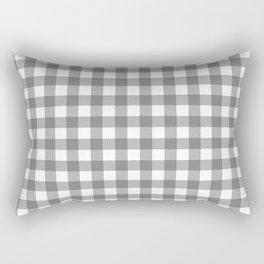 Plaid (gray/white) Rectangular Pillow