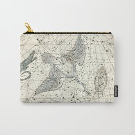 Constellations Lacerta, Cygnus, Lyra Celestial Atlas Plate 11 - Alexander Jamieson Carry-All Pouch
