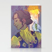 dragon age inquisition Stationery Cards featuring Josephine Montilyet - Dragon Age Inquisition by Allen Lim