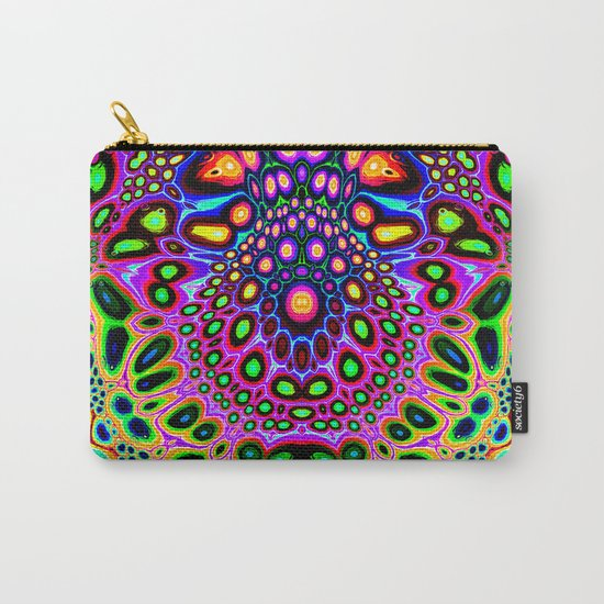 Abstract Spectral Symmetry Carry-All Pouch