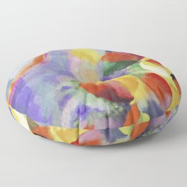 "Robert Delaunay ""Simultaneous contrasts sun and moon"" Floor Pillow"