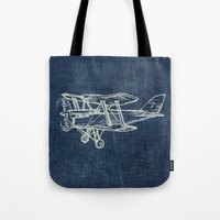 plane Tote Bags featuring Plane by Mr and Mrs Quirynen