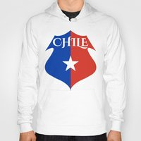 chile Hoodies featuring Chile by jekonu