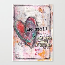 Be Still Scripture Collage Canvas Print