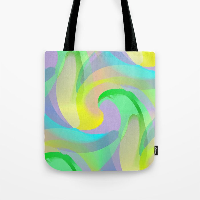 Soft Rainbow Abstract - Painterly Tote Bag