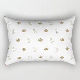 Maple Leafs - White Rectangular Pillow