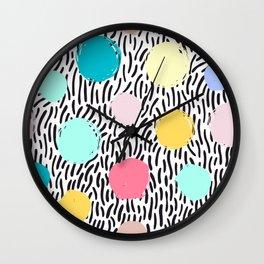 Seamless dot pattern Wall Clock