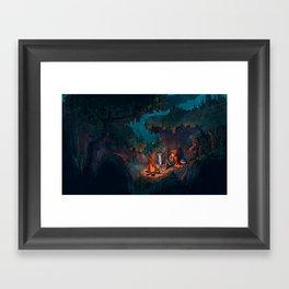The Weary Traveller Rests Framed Art Print