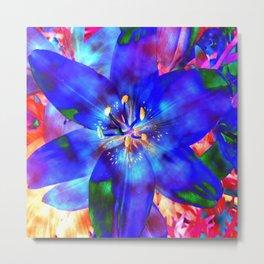 Flashy Flower Metal Print