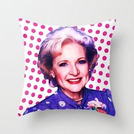 Betty White - Pop Art Throw Pillow