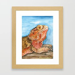 Jiggy the Bearded Dragon Framed Art Print