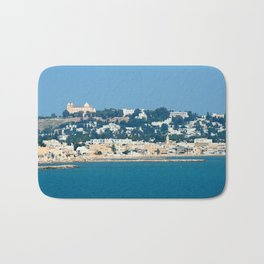 Breathtaking view of the city of Tunis from the sea Bath Mat