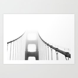 Golden Gate: Fog Art Print