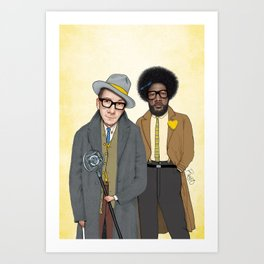 Elvis Costello and The Roots - Wise Up Ghost Art Print