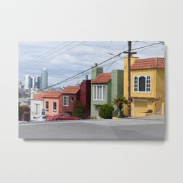 Houses of color in San Fransisco Metal Print