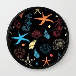 Seahorse Sea Shell Party Wall Clock