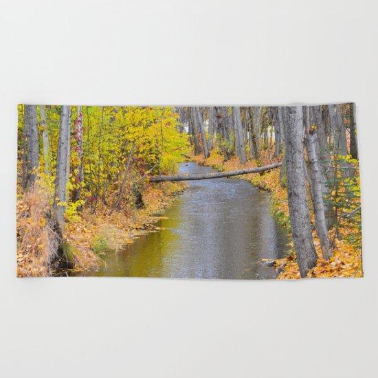Autumn Stream II Beach Towel