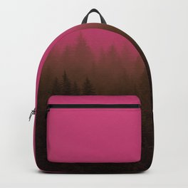 Pink & Chocolate Taffy Fog - Seward, Alaska Backpack