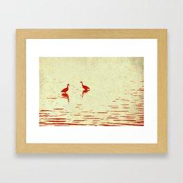 Whistling Duck Stencil Framed Art Print