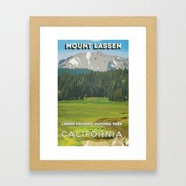 Mount Lassen Framed Art Print