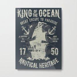 King of the Ocean Metal Print