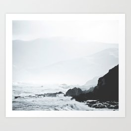 Sea Waves Seascape, Ocean Waves Photography, Sea Coast, Sea Beach Tapestry, Pillow etc Art Print