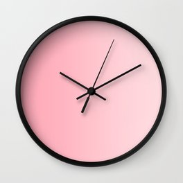 Pink to Pastel Pink Vertical Linear Gradient Wall Clock