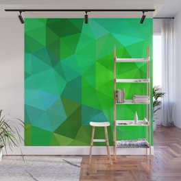 Emerald Low Poly Wall Mural