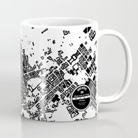 rome Mugs featuring ROME by Maps Factory