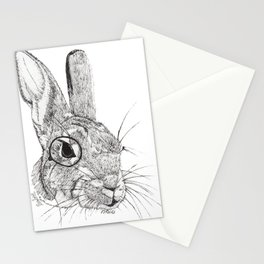Observing Bunny Stationery Cards