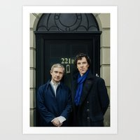 221b Art Prints featuring 221B by tillieke