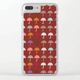 Umbrella Holiday Fun Pattern Clear iPhone Case