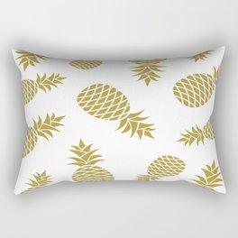 Golden pineapple pattern Rectangular Pillow