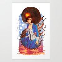 bioshock Art Prints featuring Bioshock by Vaahlkult
